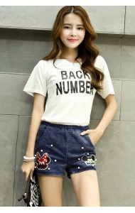 KPT09683YM Korea mickey denim shorts