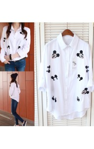 *KTP105778YH Mickey embroidery shirt
