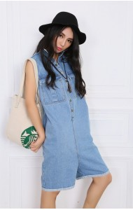 KJP123822YM Stylist denim jumpsuit (real photo)