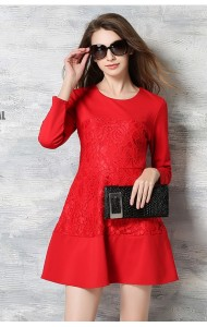 *BDS126685YX Designer inspired lace lace dress (real photo)