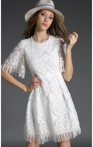 *BDS010138YN Designer inspired A line lace dress (real photo)