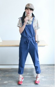 *KDS019009YT Korea linen jumpsuit (real photo)