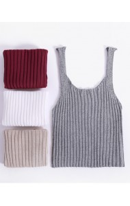 KTP049013YH Knit singlet in 6 colors REAL PHOTO