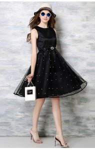 *BDS041029YX Givenchy inspired netting dress REAL PHOTO