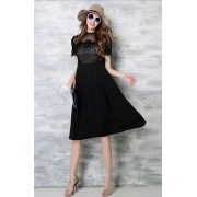 *BDS04536YH Self portrait inspired lace dress REAL PHOTO