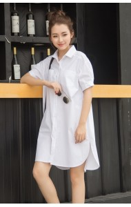 KDS05270AYJ Korea plus size white dress ACTUAL PICTURE