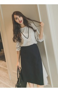 *KTP051226YS Embroidery puff sleeves OL blouse ACTUAL PICTURE