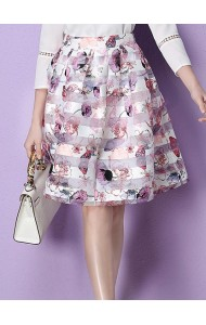 *KSK05226YS Organza floral skirt ACTUAL PICTURE