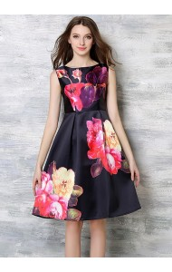 *BDS053409YH Floral A line dress ACTUAL PICTURE