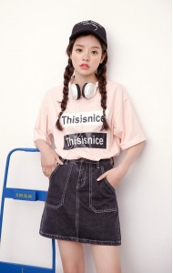 KSK066605YZ Korea A line denim skirt in 3 colors Actual Photo