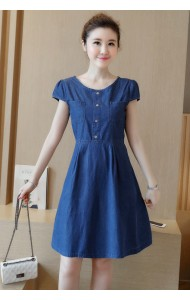 KDS07064686P Plus size pocket denim dress Actual Photo