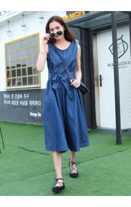 KDS07200261R Japan wide leg denim jumpsuit Actual Photo
