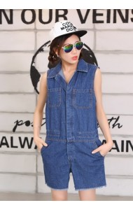 KDS0720716102R COSMO stylist denim jumpsuit Actual Photo