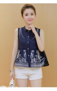KTP07297051B Embroidery wawa blouse Actual Photo