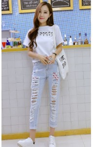 KPT08088361J Stylish ripped jeans Actual Photo