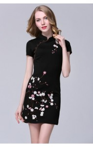 BDS09033103M Embroidery cheongsum dress Actual Photo