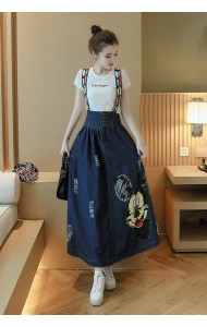 KSK0907876M Mickey jumpsuit denim skirt Actual Photo