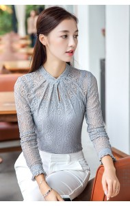KTP09110538S Full lace high neck 2 piece shirt Actual Photo