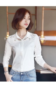 KTP09128628S Crochet long sleeves shirt Actual Photo