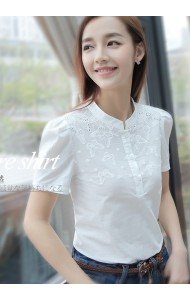 KTP09142808S High neck crochet butterfly blouse Actual Photo