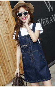 KDS09296032T Denim jumpsuit dress Actual Photo