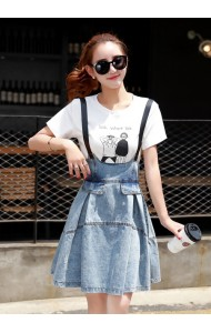 KDS10016908C Denim jumpsuit dress Actual Photo