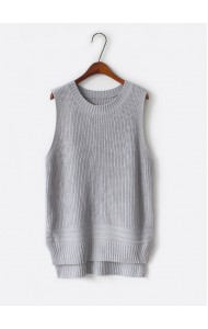 KTP10185309W Basic knit singlet in 5 colors Actual Photo
