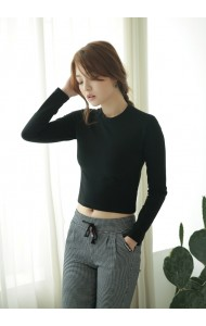 KTP1104212C Round neck long sleeves  t shirt Actual Photo