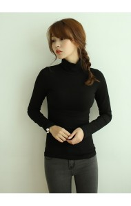 KTP1120302C Turtle neck long sleeves t shirt Actual Photo