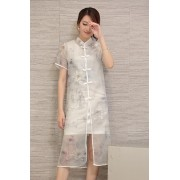 KDS12080013 Organza cheongsum 2 pc set Actual Photo