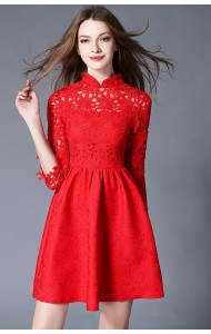 BDS12162688H Crochet lace cheognsum dress Actual Photo