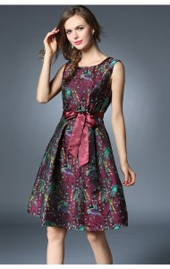 BDS12215729H Jacquard embroidery dress Actual Photo