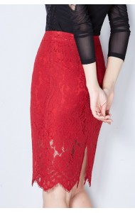 KSK1228077M Full lace pencil skirt Actual Photo