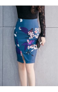 KSK12281623H Plus size split floral pencil skirt Actual Photo