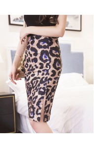 KSK12289023H Plus size leopard print pencil skirt Actual Photo