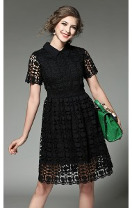 BDS12290439H Crochet collar dress Actual Photo