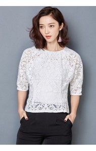 KTP12302126L Bat wing 2-piece lace blouse Actual Photo