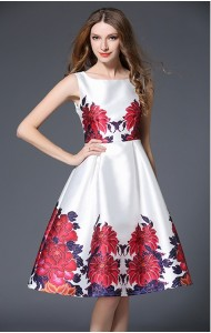 BDS01033966J 2017 floral dress Actual Photo