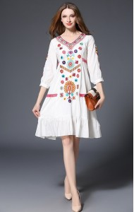 BDS02140966L Embroidery ethnic dress ACTUAL PHOTO