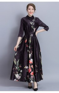 PDS030619861N Plus size jacquard floral maxi dress ACTUAL PHOTO
