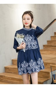 KDS031698006M Embroidery dress ACTUAL PHOTO