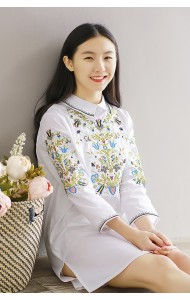 KDS03182125C Embroidery collar dress ACTUAL PHOTO