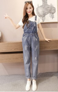 KJP040620093L Basic denim jumpsuit Actual Photo
