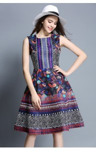 BDS041213157X V back jacquard dress ACTUAL PICTURE
