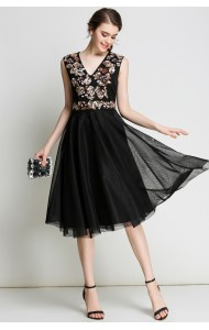 BDS041380233M V neck beaded prom dress ACTUAL PICTURE