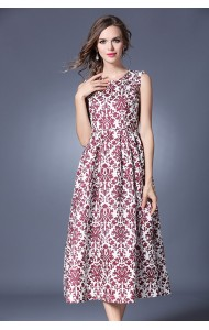 BDS042038066Y Jacquard floral maxi dress ACTUAL PICTURE
