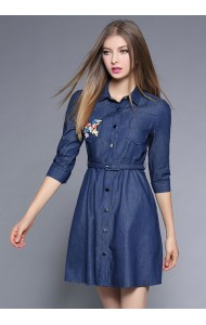 BDS04231001D Soft denim dress ACTUAL PICTURE