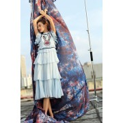 BDS050439982C Celebrities sequins pleated dress ACTUAL PICTURE