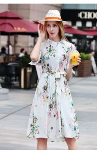 BDS040555983C Celebrities inspired chiffon floral dress ACTUAL PICTURE