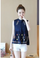 KTP05085251B Embroidery wawa blouse ACTUAL PHOTO (more colors)